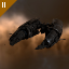 Caval Marten's Malediction exploded in HM-XR2 due to excessive weapons fire from Allucination